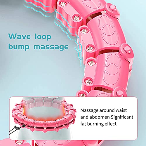 cotton yangda Weighted Smart Hula Hoop With Auto-Spinning Hoop Detachable Knots Adjustable Weight Auto-Spinning Ball Abdomen Fitness Weight Loss Massage for Adults and Kids Exercising