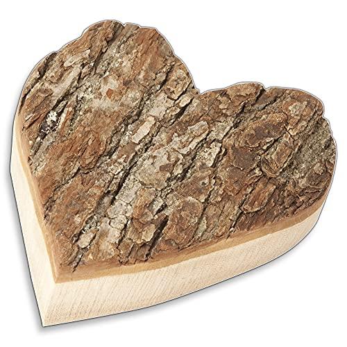 HOFMEISTER® Herz mit Rinde aus Holz 17 cm