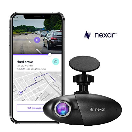 Nexar Light Full HD 1080p Dash Cam | 32 GB SD Card Included | WiFi | Unlimited Cloud Storage
