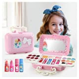 XBKPLO Beauty Makeover Compact with Mirror Princess Girl's All-in-One Deluxe Makeup Palette Girls Makeup Set Kids Washable Makeup Kit Fold Out Make Up Toy Cosmetic Kit Gifts - Non Toxic (Make Up)