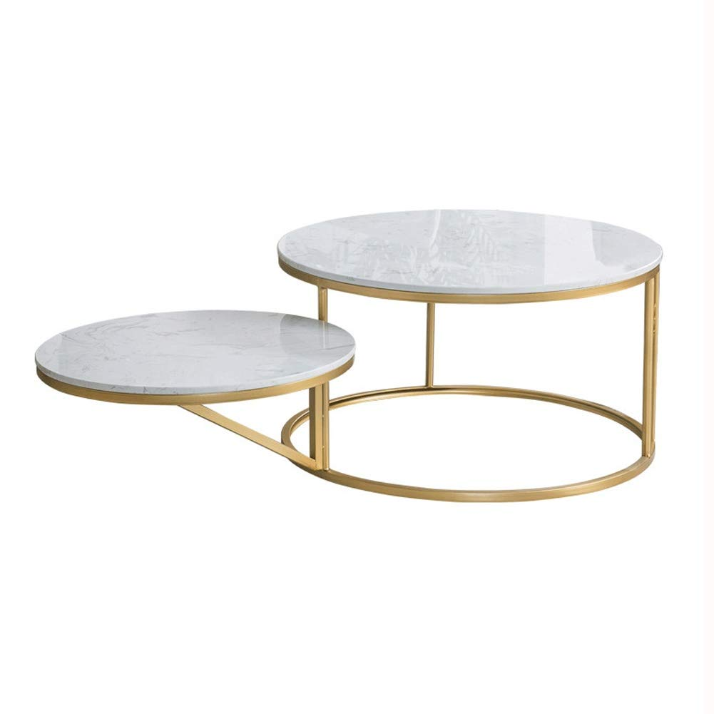 Acier INOX THE HOME DECO FACTORY HD6409 Table Dappoint Plateau Rond Glossy Rose 35 x 35 x 45 cm