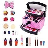 23PCS Cosmetics Set de maquillaje soluble en agua de juguete para niñas mayores de 3 años - Cosméticos para niños seguros y no tóxicos, para regalo de fiesta infantil