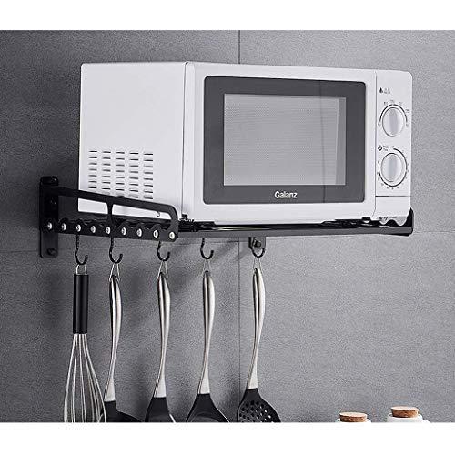 YLCJ Opbergkast voor wandplank voor keuken om op te hangen 40 x 39 x 13,8 cm (kleur: zwart, maat: 60 cm)
