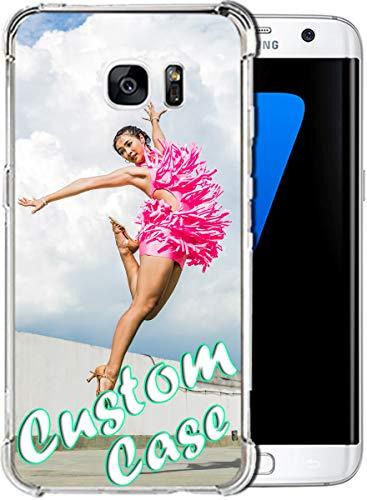 Funda personalizada para Samsung Galaxy S7 Edge de 5,5 pulgadas lanzada 2016 con nombre personalizado en funda protectora a prueba de golpes con 1 protector de pantalla (a prueba de golpes)
