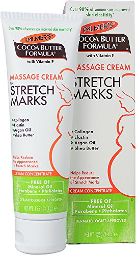 Palmer's Cocoa Butter Formula Massage Cream for Stretch Marks and Pregnancy Skin Care, 4.4 Ounces (Pack of 2)