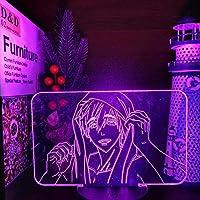 Tatapai IWATOBI SWIM CLUB MAKOTO TACHIBANA 3DLEDナイトライトANIMEランプ寝室用LEDテーブルランプクリスマスギフト-リモコンなしのブラックベース
