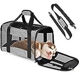 borsa trasportino per gatti/cucciolo, geeric trasportino per cani e gatti con tappeto borsa da viaggio pieghevole traspirante morbido solido spaziosa trasportino borsa a tracolla per gatti 44*28*28 cm