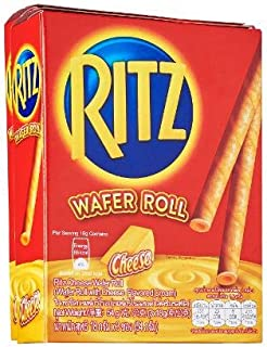 Ritz Wafer Roll with Cheese Flavored Cream (Pack of 5) / Product of Thailand