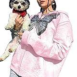 Sudaderas con capucha y cierre completo con diseño de mariposas, para mujer, Y2K E-Girl Vintage Chaquetas con bolsillos