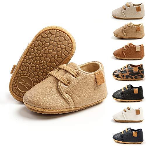BiBeGoi Zapatos de piel sintética con cordones antideslizan