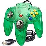 LUXMO PREMIUM Classic N64 USB Controller,Retro N64 Gamepad Joystick PC Controllers for Windows PC Retro Pie