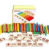 Kentop Juego Digital Varillas Madera Montessori matemáticas Intelligence préscolaire Juguete éducatifs niños Juguete Inteligencia Vara para niños bebé Juguete Educativo