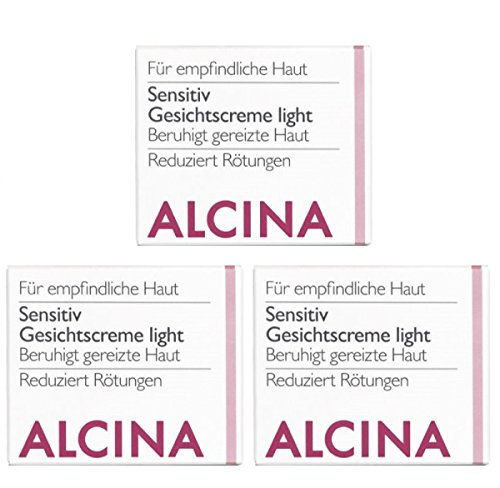 3er S Sensitiv Gesichtscreme Light Pflegende Kosmetik Alcina beruhigt gereitze Haut je 50 ml = 100 ml