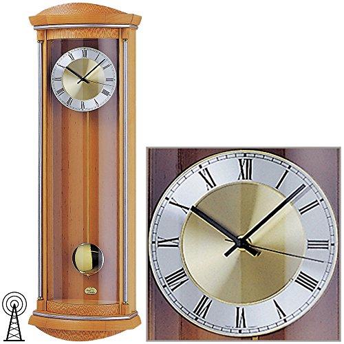 AMS horloge murale/5080 16 radio-pilotée pendule en bois aulne
