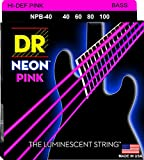 DR Strings HI-DEF NEON Bass Guitar Strings (NPB-40)