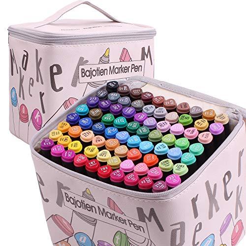 Litchitree 80 färger grafisk ritning målning alkohol dubbelspets konst markörpennor, skisspennor för vuxna barn målarbok, illustration målningskort tillverkning, markering