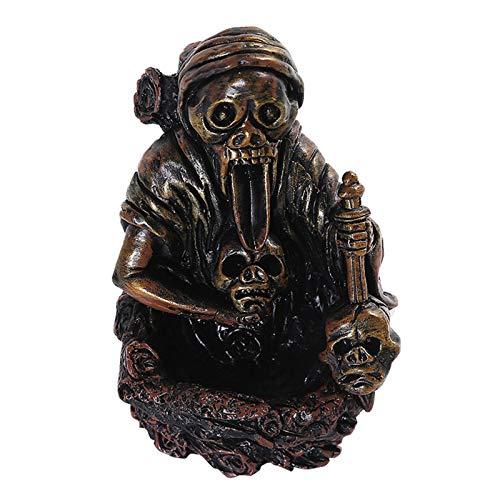 xiangqian Quemador de resina de reflujo en cascada, quemador de incienso, quemador de resina, para Halloween, decoración del hogar, oficina