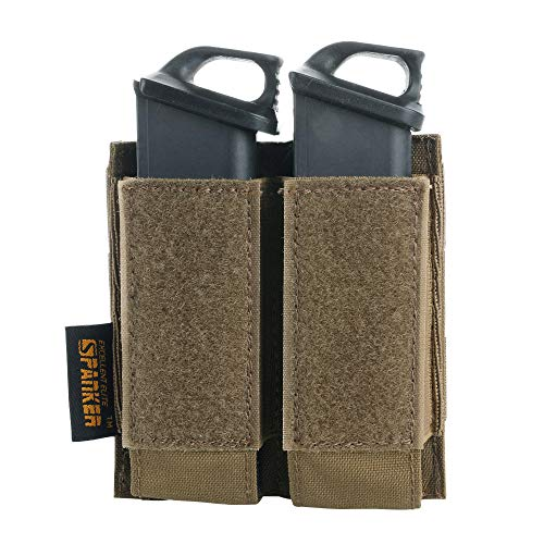 EXCELLENT ELITE SPANKER Tactical Open Top Double/Triple Pistol Mag Pouch for Glock M1911 92F Magazines 40mm Grenade(Ranger Green)