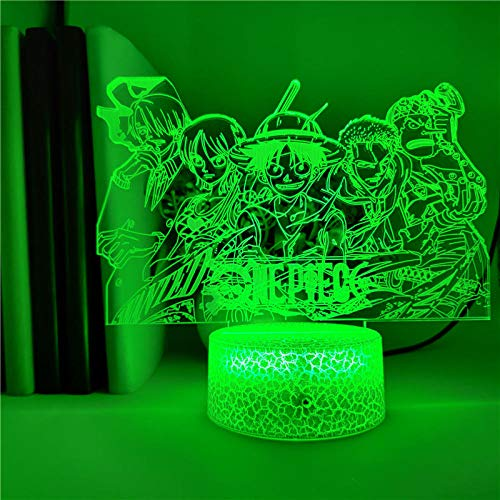 3D Illusion Lampe Led Nachtlicht App Steuerung Anime One Piece Strohhut Piraten Team Tischlampe Bunte Touch Desk Lampe Dekoration Das Beste Geschenk Für Kinder