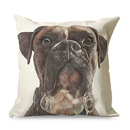 Ballbollbll Pug Dog Pillow Cover Christmas Decorations for Sofa, Couch and Car - 18'x18' Throw Pillow Covers white 45x45cm