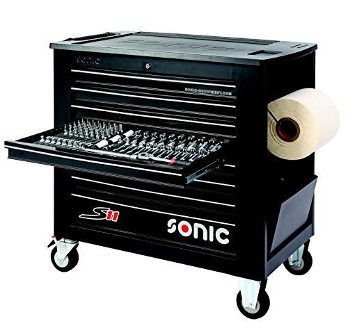 Sonic Werkstattwagen S11 gefüllt, 485-tlg, schwarz