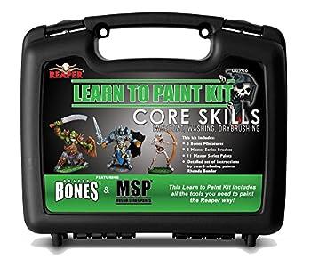 Reaper Miniatures 08906 Learn to Paint Kit Core Skills Master Series Paint Box Set