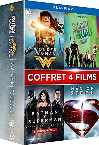 Coffret super-héros 4 films : wonder woman ; suicide squad ; batman vs superman ; man of steel