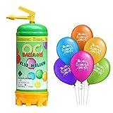 ocballoons Bombola Elio Gas 2,2LT per Gonfiare Palloncini USA e Getta Kit Festa Bomboletta Gonfia 20 Palloncini Compleanno Colorati Gonfiatore per Addobbi e Decorazioni per Feste