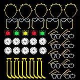 SIMUER Barras Luminosas Conectores Light Sticks Connectors Pack Fiesta para Glow Pulseras, Collares, Gafas, Pulseras triples, Flores, Bola Luminosa y Mucho Más - 40 Pack
