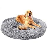 ping bu - Cama ortopédica grande para perros (tamaño mediano, tamaño extragrande), color gris