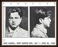 ポスター アンディ ウォーホル Most Wanted Men No. 2 John Victor G 額装品 ウッドハイグレードフレーム(ホワイト)