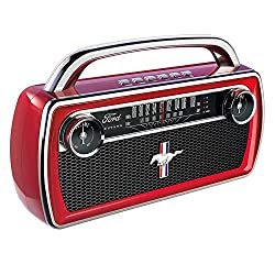 ION Audio Mustang Stereo: Wireless Bluetooth Speaker with Rechargeable Battery and AM/FM Radio