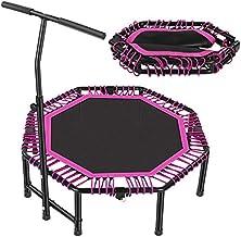 Oefening Trampoline Indoor Trampoline, Fitness Trampoline met Leuning Mini Vouwen Verstelbare Oefening Trampoline Rustige ...