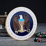 YPZMYGQ Fiesta de la Agencia de Seguridad Nacional chapada en Oro Moneda Conmemorativa de la Sala de colección de Patrones de águila de los Estados Unidos