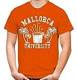 Mallorca University T-Shirt   Männer   Herren   Party   Urlaub   Sauf   Disco   Laune   Palma de Mallorca   Ballermann   Saufen   Kult (S, Orange)