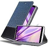 Cadorabo Book Case works with HTC U12 LIFE in DARK BLUE