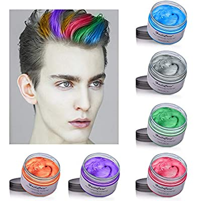 Temporary Hair Color Dye One Day Hair Color Temporary Hair Color Hair Wax Color for Men Kids Hair Dye for Halloween Party Cosplay