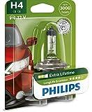 Philips 12342LLECOB1 LongLife EcoVision - Bombilla H4 para faros delanteros