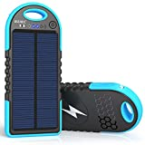 Solar Charger, 10000mAh Wireless Solar Power Bank, 18W Power Delivery USB C Charger, Type C Input & Output, QC 3.0 & PD Fast...