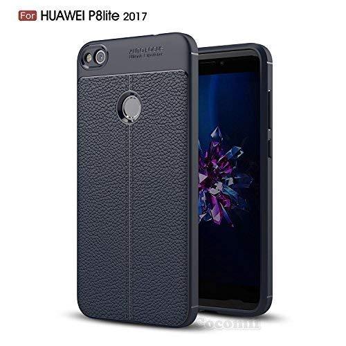Cocomii Ultimate Armor Huawei P8 lite 2017/P9 lite 2017/Honor 8 Lite/Nova Lite/GR3 2017 Hülle, Schlank Glänzend Sanft TPU Silikon Gummi Gel Leder Case Bumper Cover for Huawei P8 lite 2017 (Deep Black)