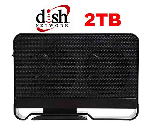 2TB DVRdaddy External DVR Hard Drive Expander for Dish Network VIP 211K 722 722K 622 612 922, Hopper and Wally DVRs. +2000 Hours Recording Capacity!
