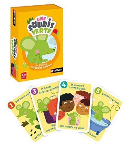 Nathan - La Souris Verte - Jeu de cartes pour enfant dès 4 ans - Jeu de hasard et langage de 2 à 4 joueurs