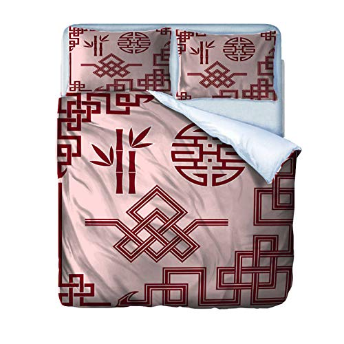AOUAURO Double Duvet Cover Set bamboo Bedding Set with Zipper Closure Microfiber Bedding Quilt Cover 2 Pillowcases for Children Kids Teens Adults 200x200cm 3D Printed 3PCS Set