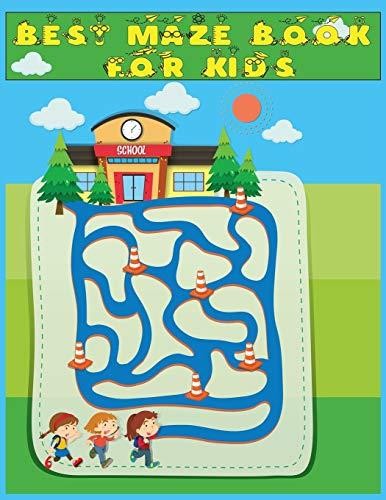 "Best Maze Book for Kids: 50+ Mazes| A Maze Activity Book for Kids : And Best Maze Puzzle Book For beginner 8.5x11"""