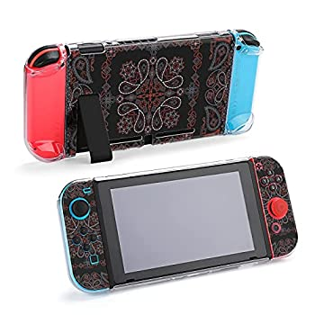 Bandana Black And Red Paisley Protective Accessories Cover for Nintendo Switch Control Game Case Holder Stand