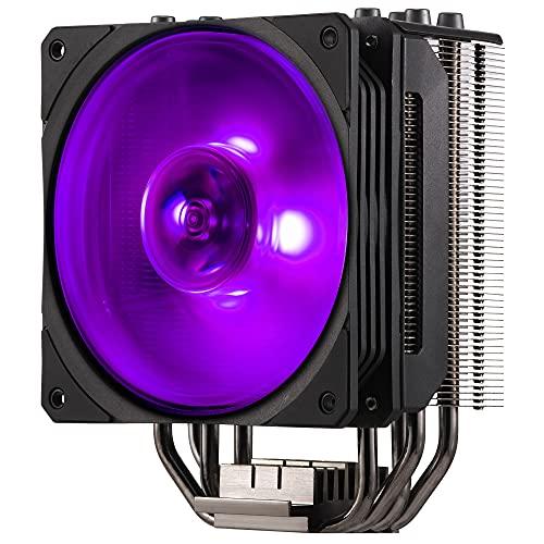Cooler Master Hyper 212 RGB Sistema di Raffreddamento Black Edition - Elegante, Colorato e Preciso - 4 Tubi di Calore a Contatto Diretto Continuo con Alette, Ventola RGB SF120R