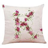 NEEDRA Baumwolle Leinen Platz dekorative Dekokissen Fall Sofa Taille Kissenbezug F