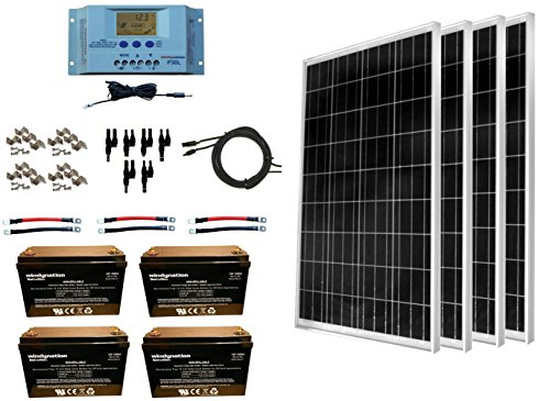 WindyNation 400 Watt Solar Kit: 4pcs 100W...