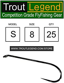 Troutlegend Barbless Competition Hooks Fly Tying Fishing +100 Style/Sizes