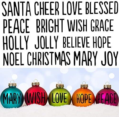 Tenare 2 Sheets Christmas Words Vinyl Decals 32 Words Christmas Greeting Vinyl Sticker Christmas product image